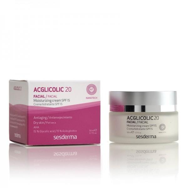Acglicolic 20 Crema Hidratante SPF15, 50 ml. - Sesderma
