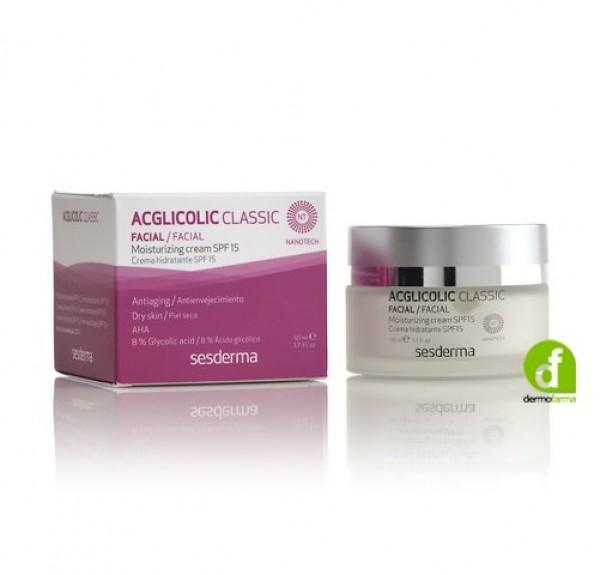 Acglicolic Classic Crema Hidratante SPF15, 50 ml. - Sesderma