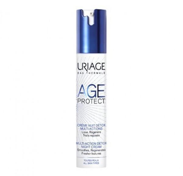 Age Protect Crema de Noche Detox Multiacción, 40 ml. - Uriage
