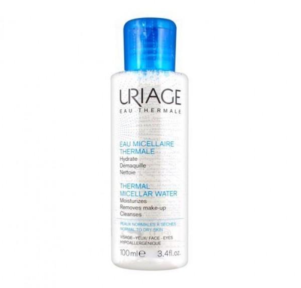 Agua Micelar Termal Pieles Normales Y Secas, 100 ml. - Uriage