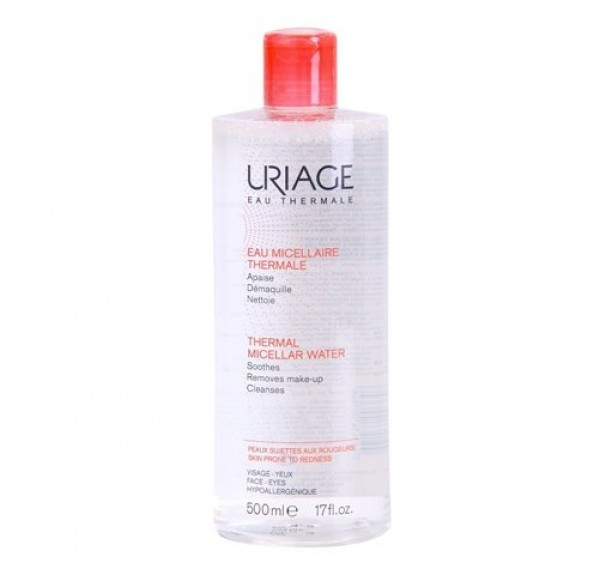 Agua Micelar Termal Pieles Sensibles Y Con Rojeces, 500 ml. - Uriage