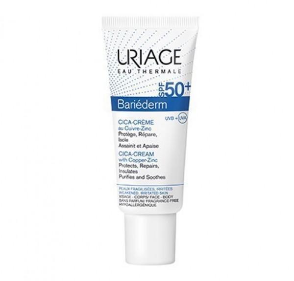 Bariederm Cica Crema SPF 50+, 40 ml. - Uriage