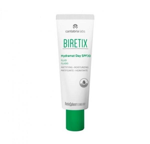 Biretix  Hydramat Day SPF 30 Fluido, 50 ml. - Cantabria Labs