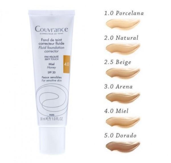 Couvrance Maquillaje Fluido Tono (04) Miel, 30 ml. - Avene