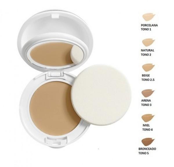 Couvrance Crema Compacta Textura Acabado Mate SPF30 Tono (01) Porcelana - Avene
