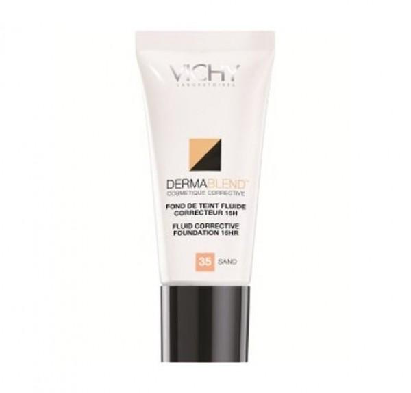 Dermablend Fondo de Maquillaje Fluido Corrector 16H Nº35 Sand, 30 ml.- Vichy