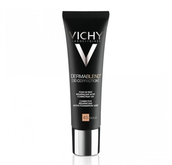 Dermablend Fondo de Maquillaje Fluido Corrector 16H Nº45 Gold, 30 ml.- Vichy