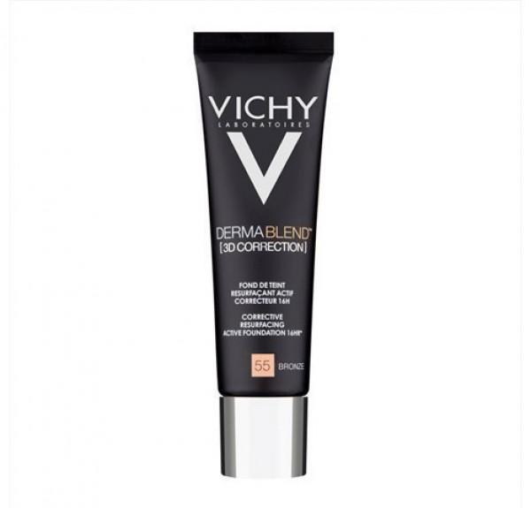 Dermablend Fondo de Maquillaje Fluido Corrector 16H Nº55 Bronze, 30 ml.- Vichy