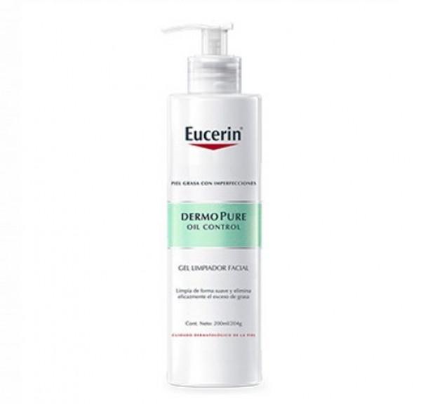 Dermopure Oil Control Gel Limpiador Facial, 200 ml. - Eucerin