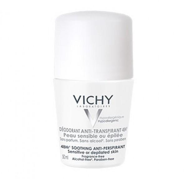 Desodorante Anti-Transpirante 48h. Roll-on Piel Sensible, 50 ml. - Vichy