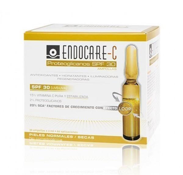 Endocare-C Proteoglicanos SPF30 (UVB-UVA), 30 Ampollas x 2 ml. - IFC