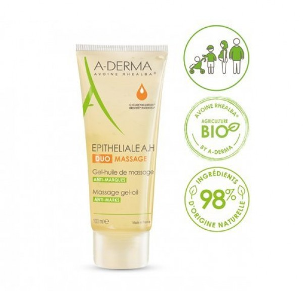 Epitheliale A.H Duo  Gel Aceite de Masaje, 100 ml. - A-Derma
