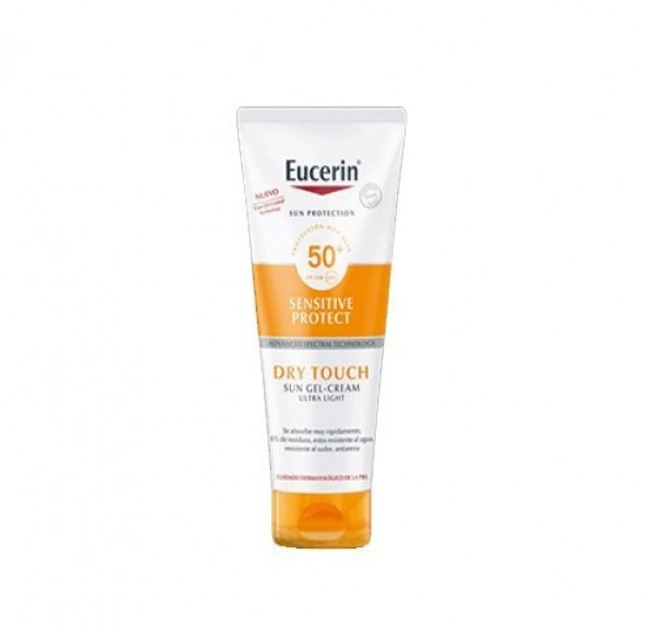 Eucerin Sun Gel-Cream Dry Touch Sensitive Protect FPS 50+, 200 ml. - Eucerin