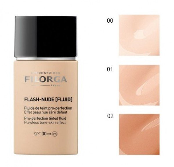 Flash-Nude Fluid 00 Nude Ivory SPF 30, 30 ml. - Filorga