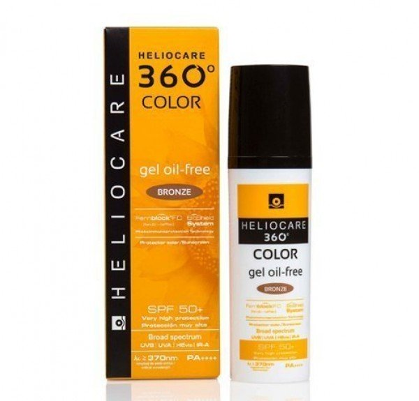 Heliocare 360° Color  Bronze Gel Oil Free SPF 50+, 50 ml. - Cantabria Labs