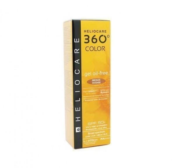 Heliocare 360° Gel Oil Free SPF 50+ Color Bronze Intense, 50 ml. - Cantabria Labs