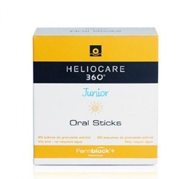 Heliocare 360º Junior Oral Sticks, 20 sobres - Cantabria Labs