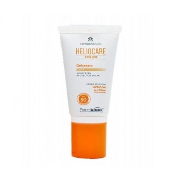 Heliocare SPF 50 Gel-Cream Color Light, 50 ml. - Cantabria Labs