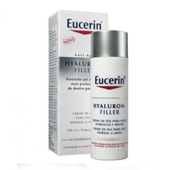 Hyaluron-Filler Crema de Día Piel Normal y Mixta, 50 ml. - Eucerin