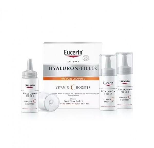 Hyaluron-Filler Vitamin C Booster, 3 x 8 ml. - Eucerin