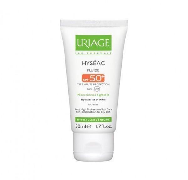 Hyseac Fluido Solar SPF50+, 50 ml. - Uriage