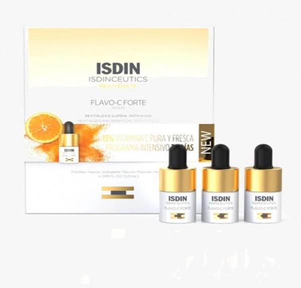 Isdinceutics Flavo-C Forte Sérum, 3 frascos, 5.3 ml. - Isdin