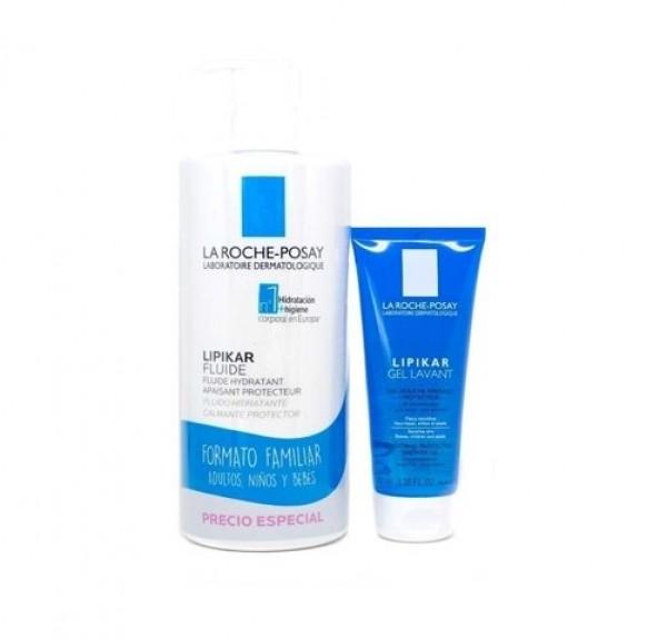 Lipikar Fluide Hidratante, 750 ml. + Lipikar Gel Lavant, 100 ml. de REGALO. - La Roche Posay