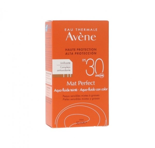 Mat Perfect con Color Aqua-Fluido SPF 30+. - Avene