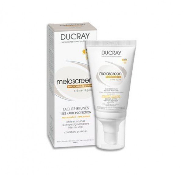 Melascreen Fotoprotección Crema Ligera SPF 50+ UVA, 40 ml. - Ducray