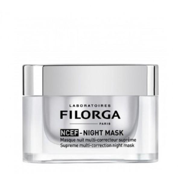 NCEF- Night Mask Mascarilla de Noche Multicorrección Suprema, 50 ml. - Filorga