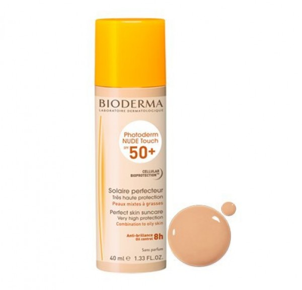 Photoderm Nude Touch SPF 50+ Color Claro, 40 ml. - Bioderma