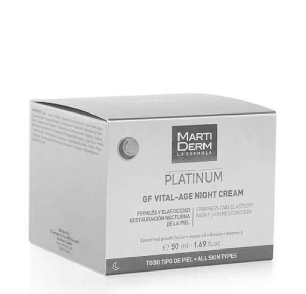 Platinum GF Vital - Age Night Cream, 50 ml. - Martiderm