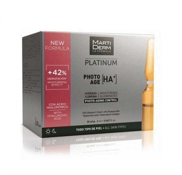 Platinum Photo-Age [HA+], 30 ampollas x 2ml. - Martiderm
