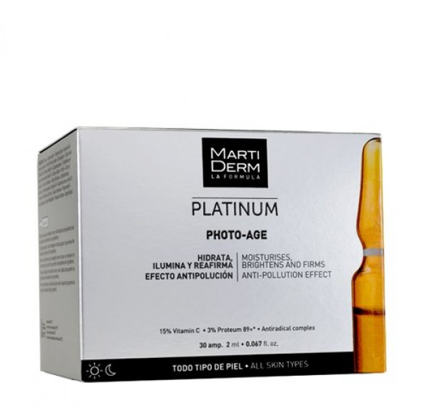 Platinum Photo-Age Ampollas Anti-Aging, 10 ampollas x 2 ml. - Martiderm