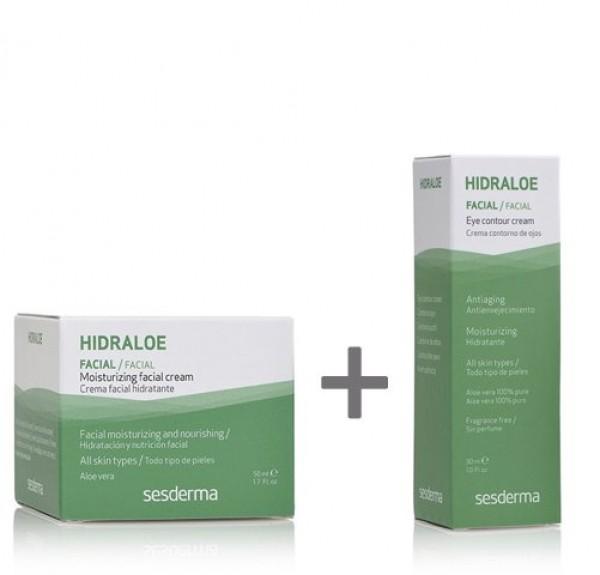 Hidraloe Crema Facial, 50 ml. + Hidraloe Contorno de Ojos, 15 ml. de REGALO!