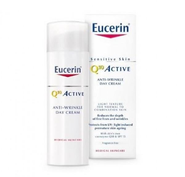 Q10 ACTIVE Crema de Día para piel normal o mixta FPS15 + UVA, 50 ml. - Eucerin