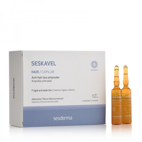 Seskavel Ampollas Anticaída, 12 x 8 ml. - Sesderma