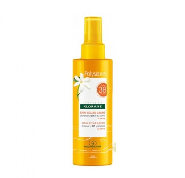 Spray Solar Sublime SPF 30 al Monoi y Tamanu Bio, 200 ml. - Polysianes