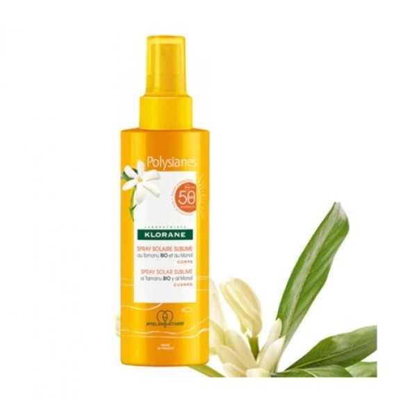 Spray Solar Sublime SPF 50 al Monoi y Tamanu Bio, 200 ml. - Polysianes