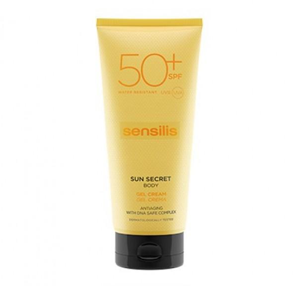 Sun Secret Gel Crema Solar Corporal SPF50, 200 ml. - Sensilis