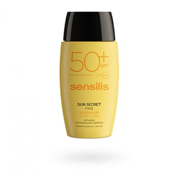 Sun Secret Ultra Fluido Facial Protector y Antiedad SPF50+, 40 ml. - Sensilis