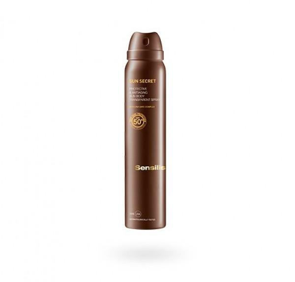 Sun Secret Spray Transparente Corporal Protector y Antiedad SPF50, 200 ml. - Sensilis
