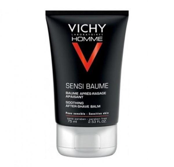 Vichy Homme Sensi-Baume Ca. Bálsamo Confort Anti-Reacciones - Pieles Sensibles, 75 ml. - Vichy